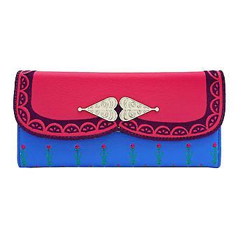 Bevroren portemonnee Anna nieuwe officiële Loungefly Disney driebladige blauw