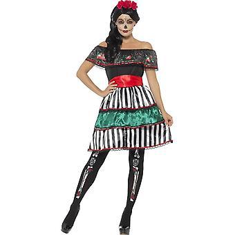 يوم حلي دمية الآنسة الميت، الملونة المتعددة، باللباس، وحزام آند عقال