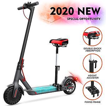 GeekMe Electric scooter med sæde aftagelig 8,5 tommer dæk City scooter 25 km/t | Foldbar El-scooter med LCD-skærm | 7.5 et Li-ion-batteri | 120 kg for voksne og teenager