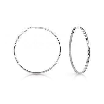 Örhängen antar runda och runda UBE78089 - örhängen stål veckad korn Swarovskikristaller