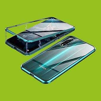 Double Sided 360 Degree Magnet / Glass Case Case Phone Case Bumper Green for Huawei Honor 20 / Nova 5T / Honor 20 Pro