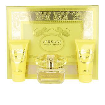 Versace gul Diamond Set 3 PZ för kvinnor