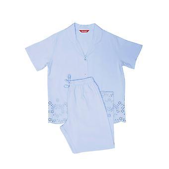 minijammies 5539 jente's olivia blå bomull brodert vevd pyjamas sett