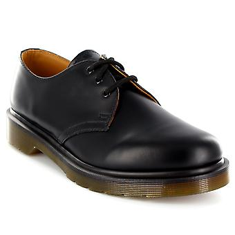 Unisex Adults Dr Martens 1461 PW Icons Smooth Leather Black Plain Shoes