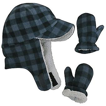N'Ice Caps Little Boys and Baby, Charcoal Gray Buffalo Plaid, Size 2-3 Years