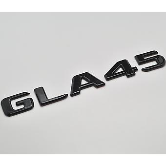 Gloss Black GLA45 Flat Mercedes Benz Car Model Numbers Letters Badge Emblem For GLA Class X156 AMG