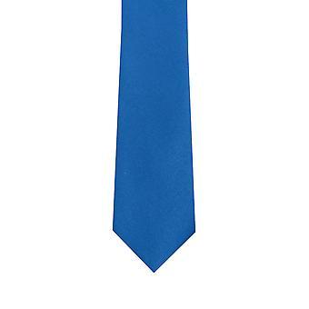 Dobell gutter kongeblå Tie Satin føle stoff bryllup slips