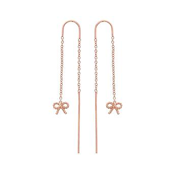 Olivia Burton Watches Obj16vbe13 Vintage Bow Chain Drop Earrings Rose Gold