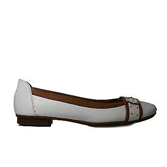 Gabor Michelle 116-21 White Leather Womens Slip On Ballerina Pump Shoes