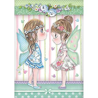 Stamperia Rice Paper A4 Fairies with Butterflies