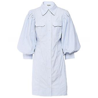 Ganni Stripe Cotton Mini Dress