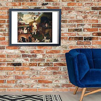 Эдвард Хикс - плакат осень Писеейбл Королевство Giclee Печать