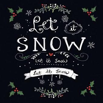 CraftEmotions servetten 5pcs - Laat het sneeuwen 33x33cm Ambiente 33305165