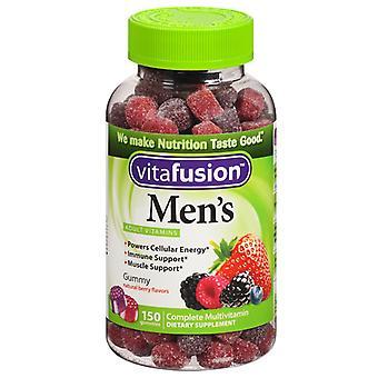 Vitafusion men´s multivitamin gummies, natural berry, 150 ea