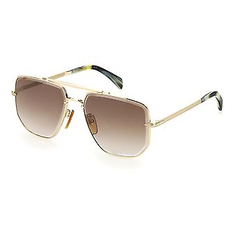 David Beckham DB7001/S J5G/HA Gold/Brown Gradient Sunglasses