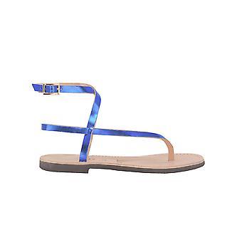 P.a.r.o.s.h. D070145blu Women's Blue Leather Sandals