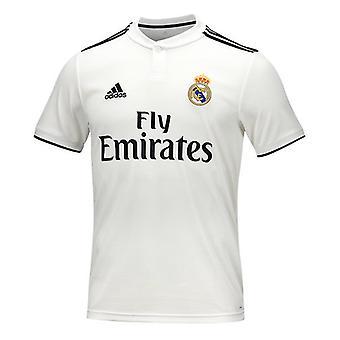 Män's Kortärmad fotbollströja Adidas Real Madrid Vit 18/19 (1 )/M