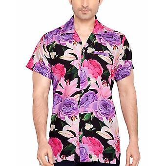 Club cubana men's regular fit classic short sleeve casual shirt ccd18