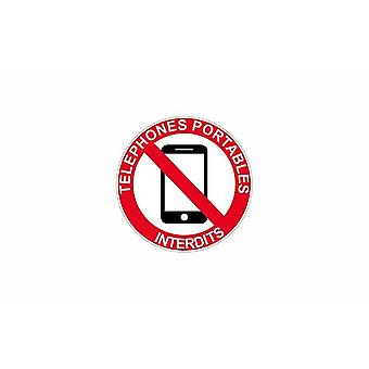Stick stick sticker adhesif signage portable phone sign banned