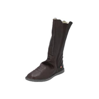 Softinos Boots Women's Boots Brown Lace-Up Boots Winter