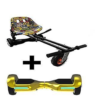 Hip Hop Suspension Hoverkart + 6.5? G PRO Gold Chrome Bluetooth Segboard, Segway Hoverboard Bundle