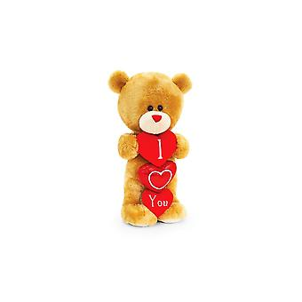 Keel Toys Pipp The Bear Standing With Heart 20cm