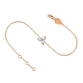 Anklet Britney 18K Gold and Diamonds - Rose Gold