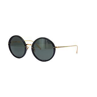 Linda Farrow TRACY LFL239 SUN C11 Black Yellow Gold/Grey Sunglasses
