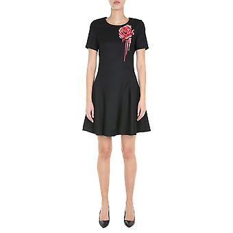 Boutique Moschino 044661231555 Women's Black Polyester Dress