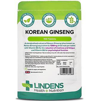 Lindens Korean Ginseng 1300mg Tabletit 100 (1288)