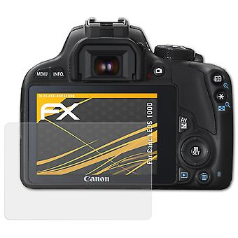 atFoliX Glass Protector compatible with Canon EOS 100D Glass Protective Film 9H Hybrid-Glass