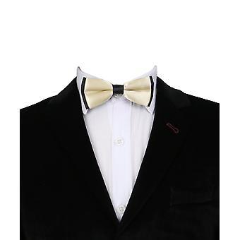 الأولاد العنق الكلاسيكية حزام قابل للتعديل البيج القوس العلاقات المتينة