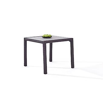 Polyrattan Table à manger 90 cm - anthracite