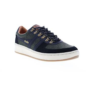 Gola Ascent Low  Mens Black Canvas Lace Up Lifestyle Sneakers Shoes