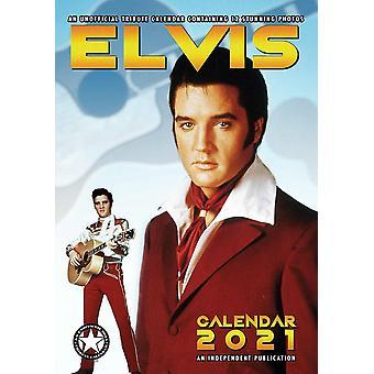 Elvis Presley Calendar 2021 Tribute Calendar DIN A3, Wall Calendar 2021, 12 Months, original English version.