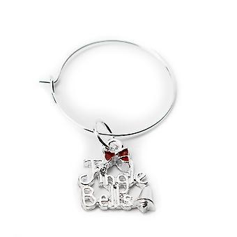 Jingle Bells - Natal Wine Glass Charm - Cracker Filler Gift