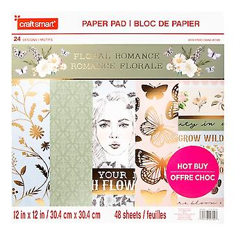 Craft Smith Floral Romance 12x12 Inch Paper Pad