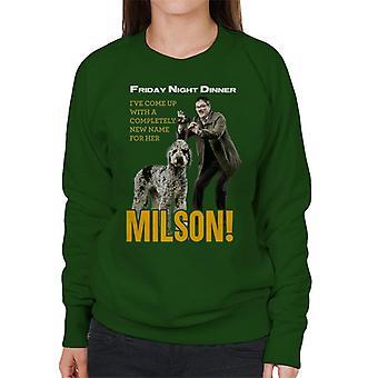 Friday Night Dinner Naming Milson Women's Sweatshirt