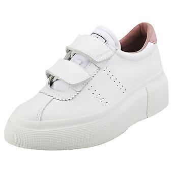 Superga Club5 Comfleastrapsw Womens Platform Trainers in White