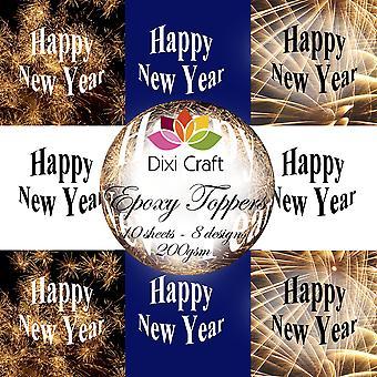 Dixi Craft Epoxy Toppers 16 Hyvää uutta vuotta