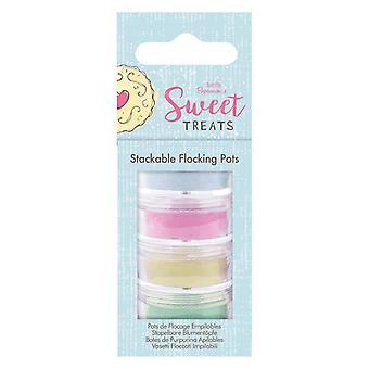 Papermania Sweet Treats Stackable Flocking Pots (4pk) (PMA 401410)