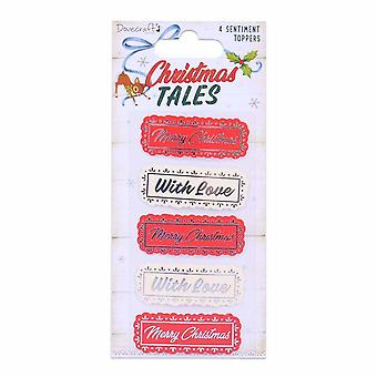 Dovecraft Christmas Tales Sentiment Toppers (4pcs) (DCTOP159X19)
