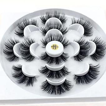 3d Mink Natural False Eyelashes Fake Lashes Long Makeup Extension For Beauty