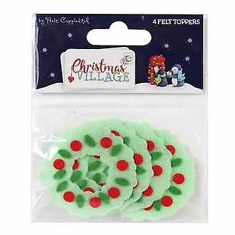 Trimcraft Christmas Village Felt Toppers Wreath