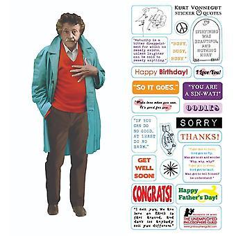 قرطاسية - كورت فونيغوت - بطاقة و ملصقا ورقة جديدة 2959