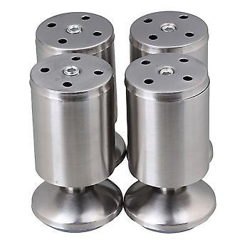 4st rostfritt stål Möbler Fot Ben Fötter 50 * 100mm