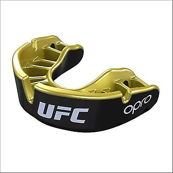 Opro ufc gold mouth guard black metal/gold