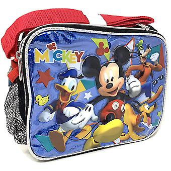Lunch Bag - Disney - Mickey Mouse - w/Friends Blue New 009489