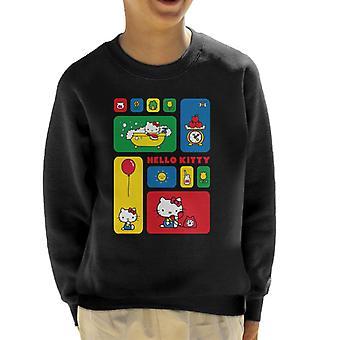 Hallo Kitty bunte Fliesen Montage Kid's Sweatshirt