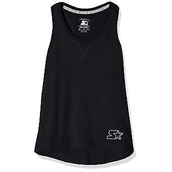Starter Girls' Cotton Racerback Tank Top, Exclusief, Wit, L